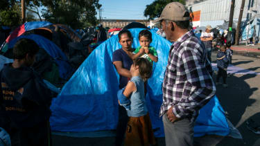 Central American migrants near the U.S.-Mexico border.