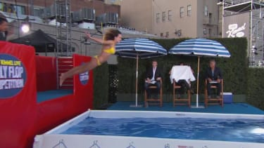 These five people were willing to belly-flop on Jimmy Kimmel Live