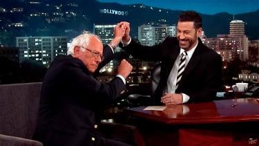 Jimmy Kimmel talks to Bernie Sanders about debating Donald Trump