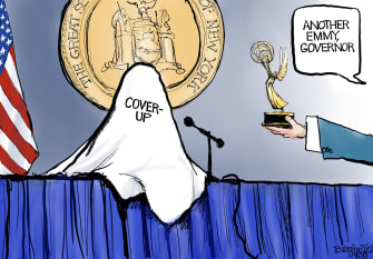 Political Cartoon U.S. cuomo nursing home deaths covid