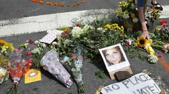 A memorial to Heather Heyer.