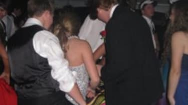 """A photo of the """"real prom"""" showed up on Facebook."""