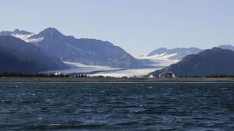 Two skiers were stranded on Bear Glacier in Alaska over the weekend.