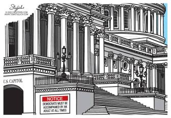 Political Cartoon U.S. Democrats congress COVID relief