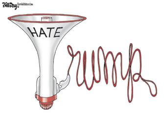 Political Cartoon U.S. trump anti asian hate