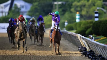 California Chrome wins big again at the 139th Preakness Stakes