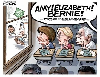 Political Cartoon U.S. impeachment democratic nominees