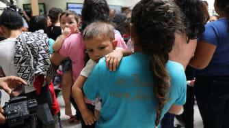 Honduran migrants being processed in McAllen