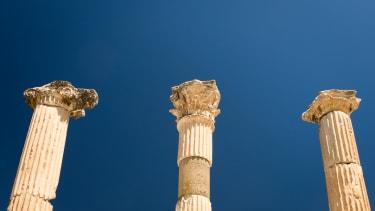 Broken pillars.