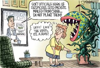 Editorial Cartoon U.S. China seeds
