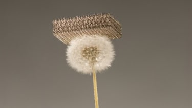 The world's lightest material uses interlocking hollow tubes made from nickel that is each 1,000 times thinner than a human hair.