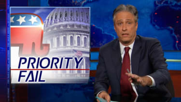 Jon Stewart nails GOP 'warfare queens' over blank checks for foreign wars, closed wallet at home