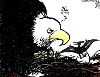 Editorial Cartoon U.S. Anti-semitism Not Welcome In Nest