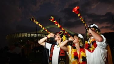 Some World Cup fans have embraced the vuvuzela horns.