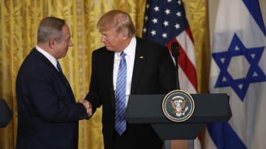 President Trump and Israeli PM Benjamin Netanyahu.