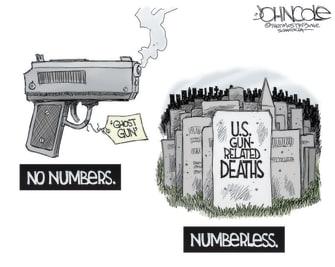 Editorial Cartoon U.S. gun control deaths