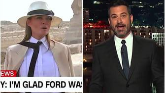 Jimmy Kimmel thinks Melania Trump was happier in Africa