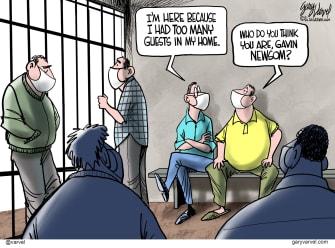 Editorial Cartoon U.S. Gavin Newsom California COVID