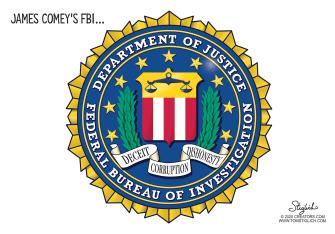 Political Cartoon U.S. James Comey Michael Flynn FBI