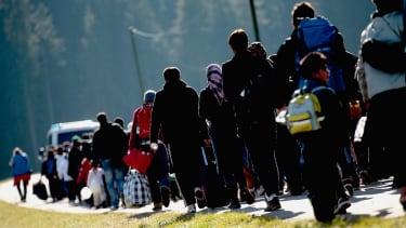 Arriving migrants in Germany
