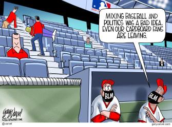 Editorial Cartoon U.S. MLB politics BLM