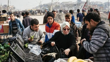 A market in eastern Mosul, Iraq
