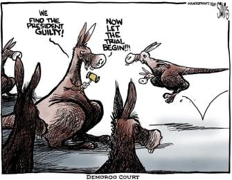 Political Cartoon U.S. House Democrats Kangaroo Court