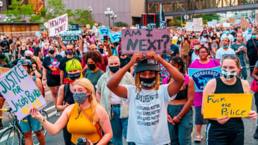 Protesters in Kenosha, Wisconsin