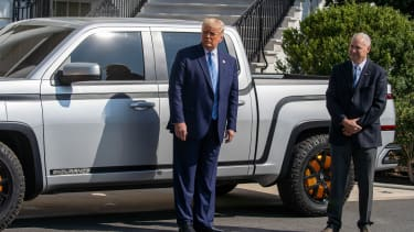 President Trump and a truck.