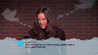 "Liv Tyler reads a ""Mean Tweet"" for Jimmy Kimmel"