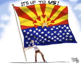 Editorial Cartoon U.S. Arizona vote 2020
