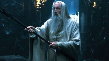 Christopher Lee in 'Lord of the Rings'