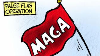 Political Cartoon U.S. Trump gop maga