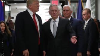 Trump and Defense Secretary James Mattis at the Pentagon