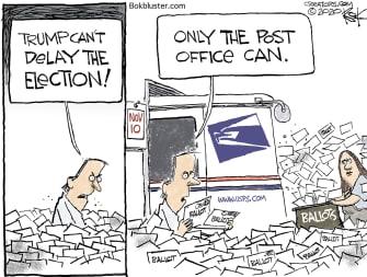 Editorial Cartoon U.S. Trump post office election