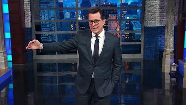 Stephen Colbert mocks Trump over made-up Swedish terrorism