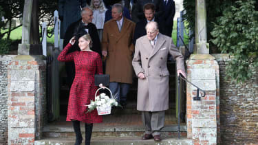 The British royal family went to church without Queen Elizabeth