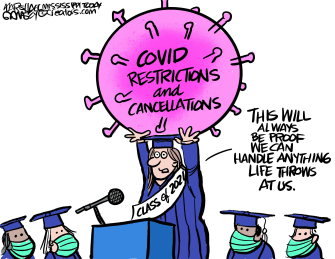 Editorial Cartoon U.S. covid college high school graduates