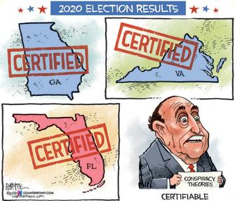 Political Cartoon U.S. Giuliani conspiracy theories