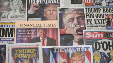 U.K. newspapers on Nov. 10, 2016, after Donald Trump was elected president.