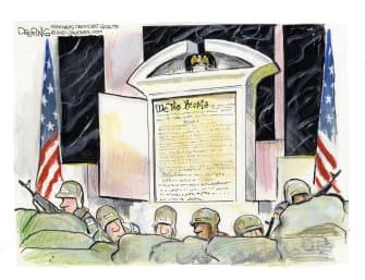 Editorial Cartoon U.S. inauguration constitution capitol riot
