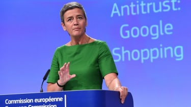 Google slapped with record EU antitrust fine