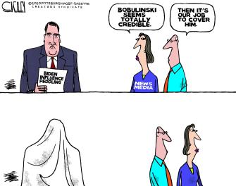 Political Cartoon U.S. Biden media Bobulinski