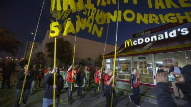 McDonald's workers rally