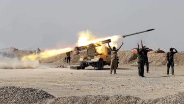 Fighting near Baghdad.