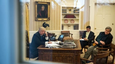 President Trump and Stephen Bannon.