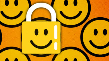 Smiley faces and a lock.