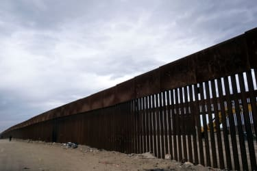U.S.-Mexico border fence.