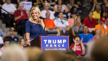 Florida Attorney General Pam Bondi speaking at a Donald Trump rally