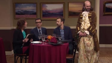 Seth Meyers debuts the first of Late Night's rejected SNL skits, 'Jennjamin Franklin'